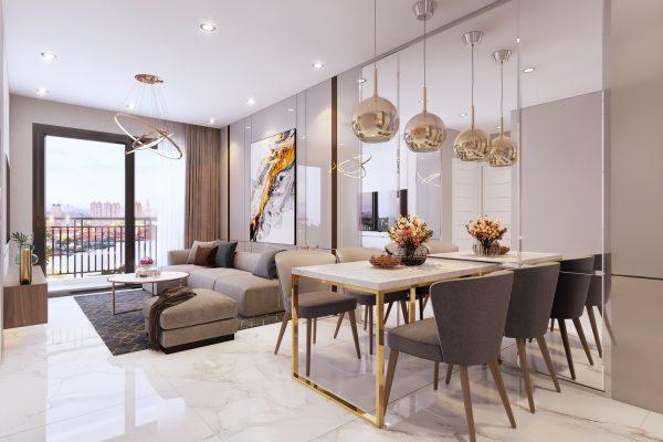 Không gian Phòng Khách được thiết kế để đón gió và ánh sáng tự nhiên mang lại cho khách hàng sự thoải mái - Khang Điền HCM
