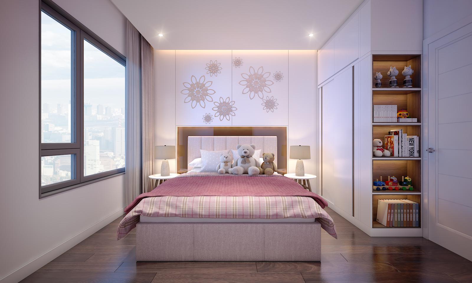 Phòng Ngủ nhỏ được gợi ý bố trí theo tông màu trẻ trung phù hợp với những đứa trẻ đáng yêu trong gia đình bạn - Khang Điền HCM