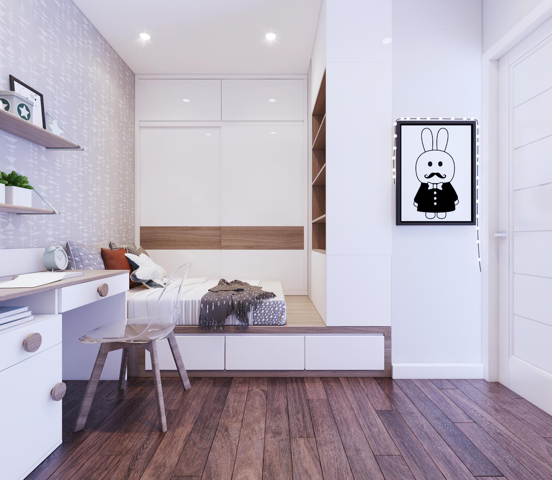 Phòng Ngủ nhỏ được tối ưu hóa không gian, mang lại cho con bạn không gian vui chơi riêng trong chính căn phòng - Khang Điền HCM