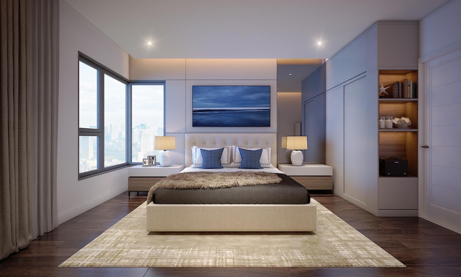 Nếu đây là Phòng Ngủ Master của căn góc tại Safira Khang Điền thì khách hàng sẽ đánh giá căn này như thể nào? - Khang Điền HCM