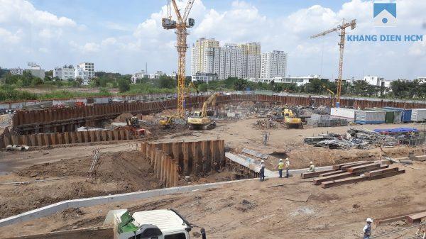 Một góc bên trong công trường dự án Safira Khang Điền - Khang Điền HCM