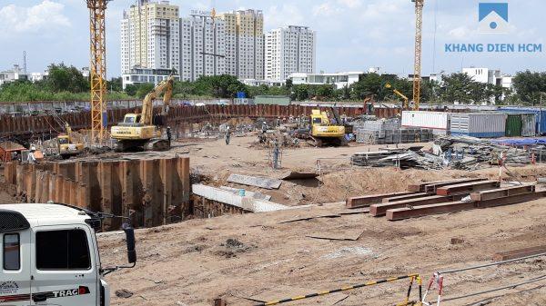 Hầm dự án Safira Khang Điền đang được Tổng thầu An Phong tích cực thi công dự kiến tháng 12/2018 sẽ hoàn thành - Khang Điền HCM
