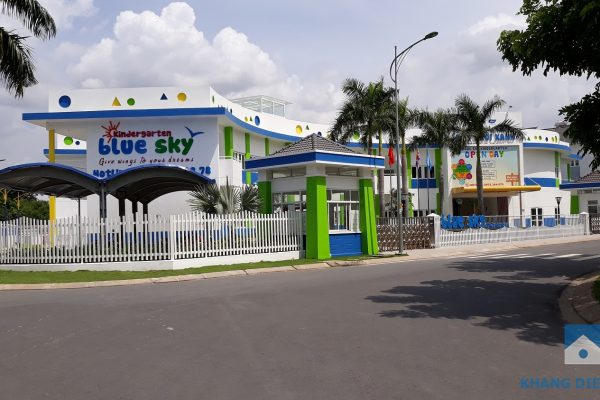 Trường mầm non Blue Sky tọa lạc trong khu dân cư Mega của Khang Điền đã hoàn thành, sẵn sàng phục vụ cho cư dân khu nhà phố và căn hộ Safira - Khang Điền HCM