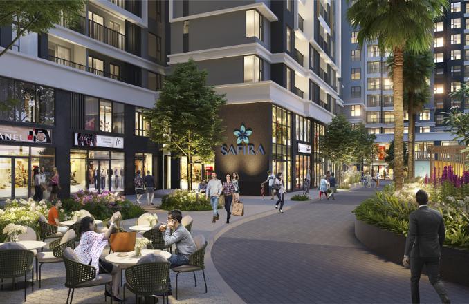 Dự án Safira Khang Điền được thiết kế theo phong cách Singapore với rất nhiều mảng xanh và tiện ích.