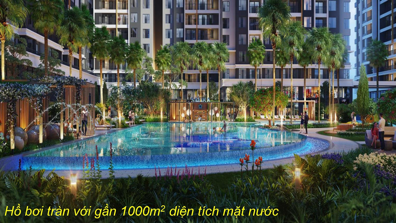 Phối cảnh hồ bơi phục vụ cư dân tại dự án Safira Khang Điền Quận 9 - Khang Điền HCM