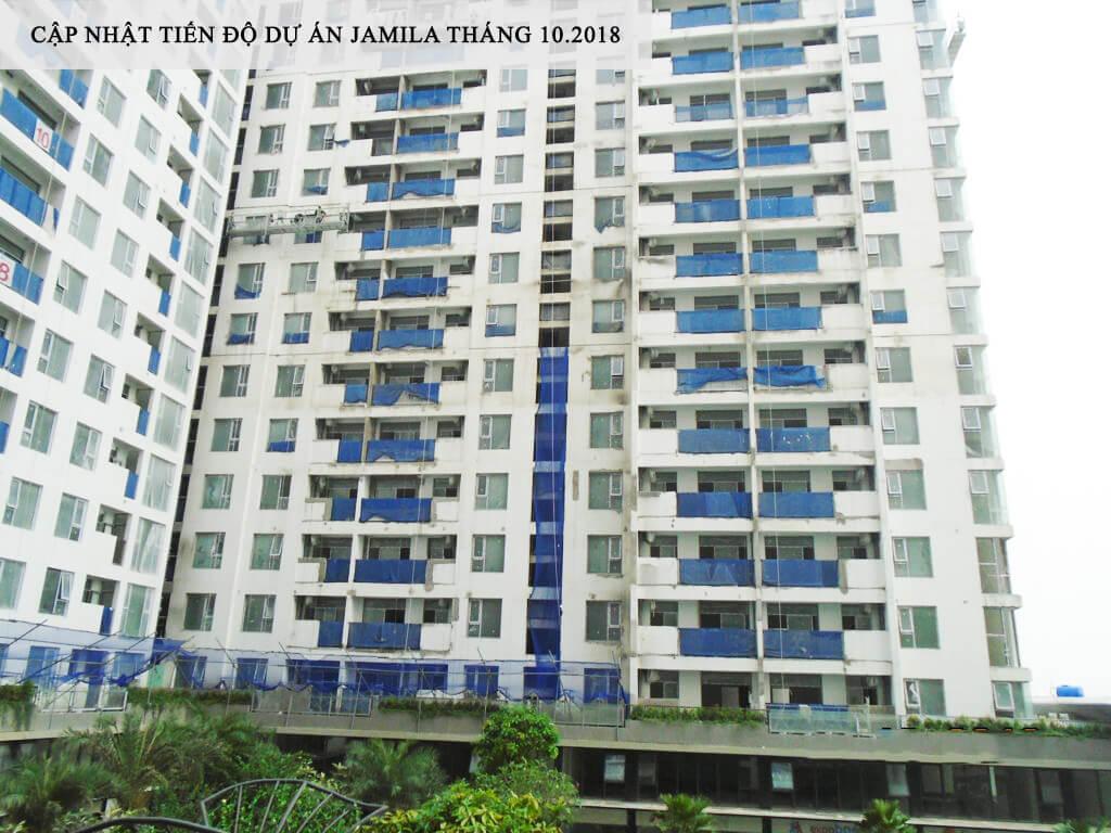 Block A hướng Đông Nam nhìn vào Hồ Bơi đang hoàn thiện bên trong từng căn hộ - Khang Điền HCM