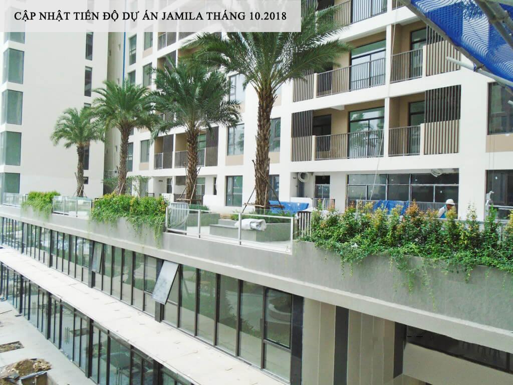 Góc nhìn căn hộ Sân Vườn tại tầng 3 từ Block A - Khang Điền HCM