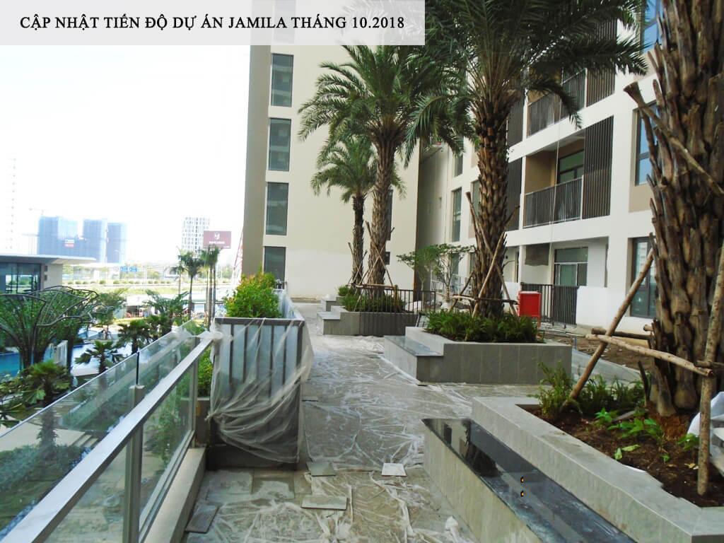 Khu căn hộ sân vườn tại tầng 3 tại dự án Jamila đang hoàn thiện những công đoạn cuối - Khang Điền HCM