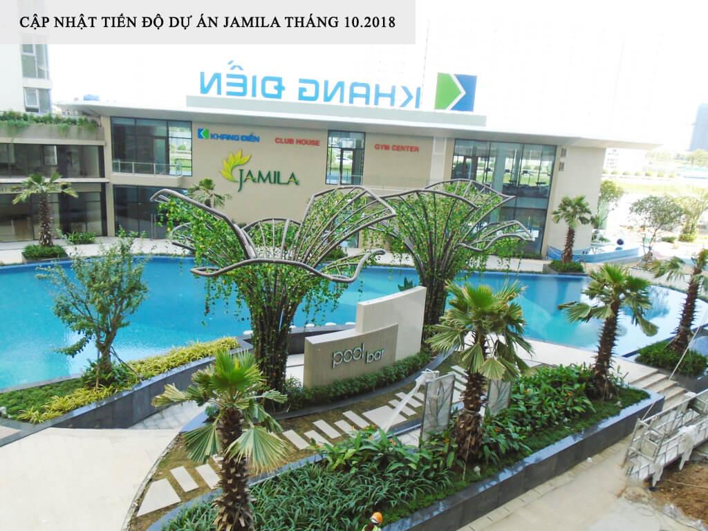 Một góc Hồ Bơi xanh mát nhìn từ Block B của khu căn hộ - Khang Điền HCM