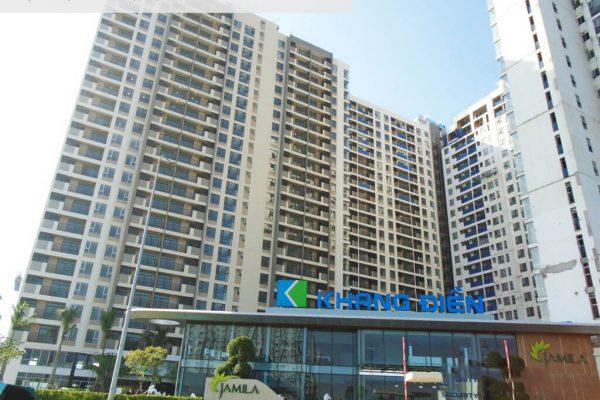 Cổng chính đi vào sảnh dự án căn hộ Jamila Khang Điền đã được hoàn thiện - Khang Điền HCM
