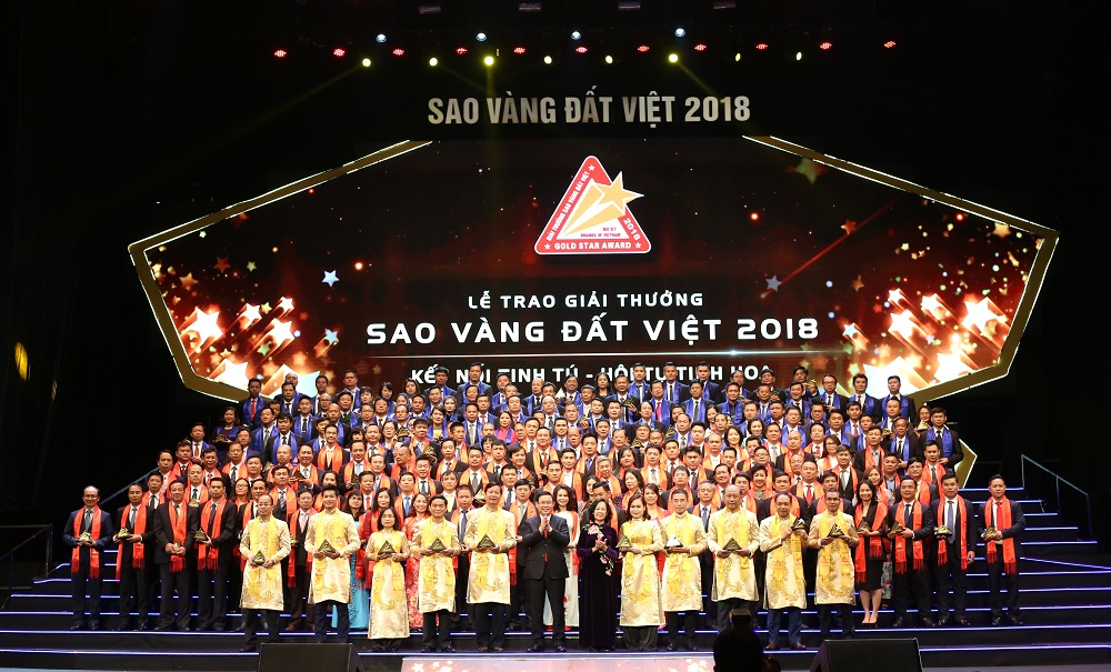 Các doanh nghiệp đạt giải thưởng sao vàng đất việt năm 2018 - Khang Điền HCM