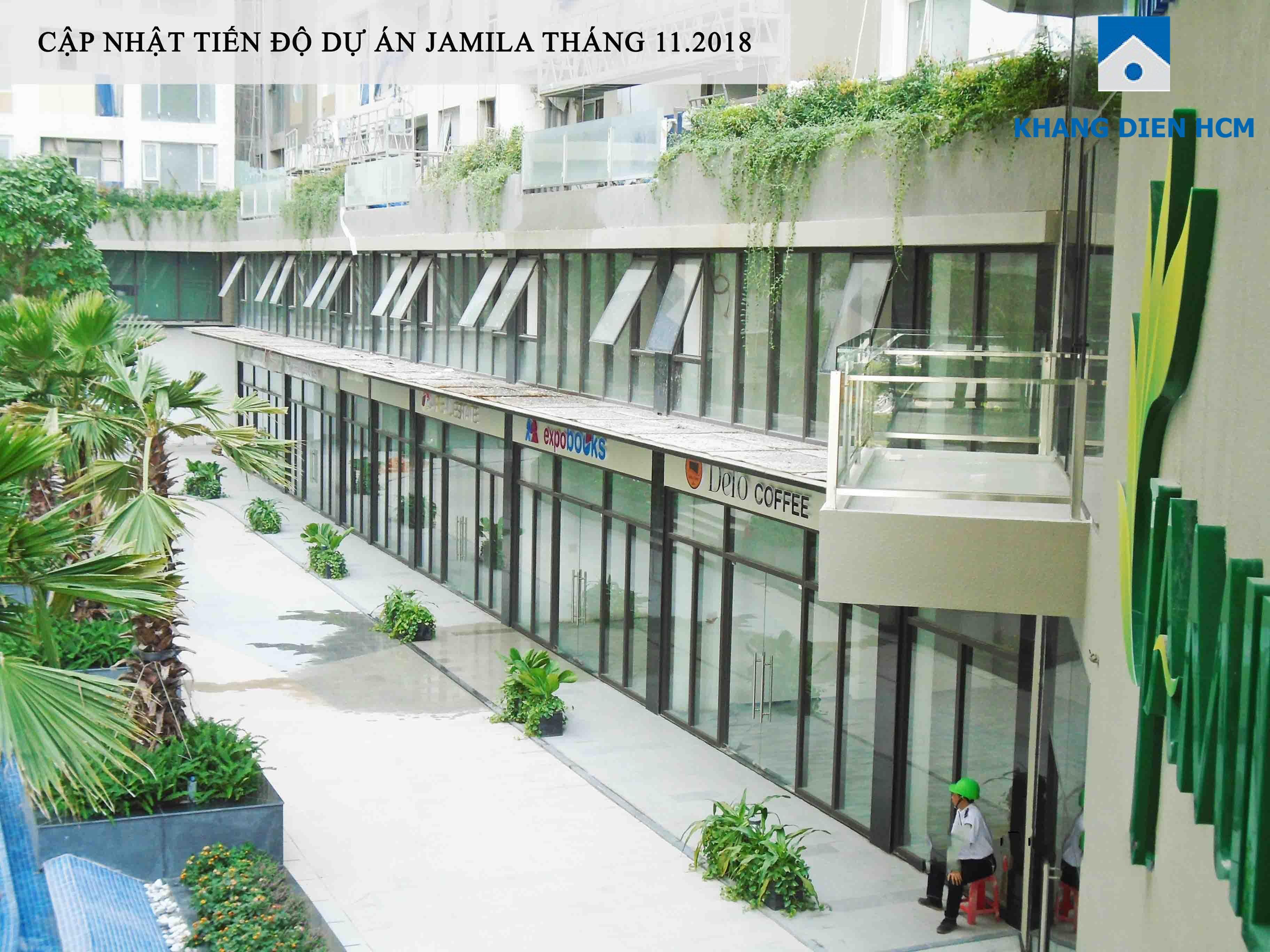 Khu Shophouse đã hoàn thiện và đang chờ phục vụ cư dân tại dự án Jamila - Khang Điền HCM
