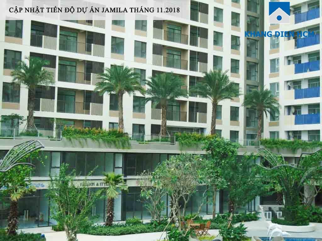 Khu căn hộ Sân vườn tại dự án Jamila đã hoàn thiện tràn ngập mảng xanh - Khang Điền HCM