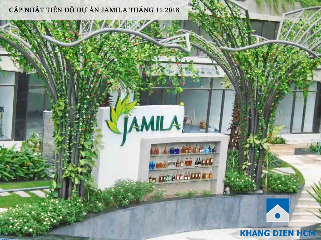 Khu vực quầy bar ngoài trời phục vụ cư dân Jamila - Khang Điền HCM