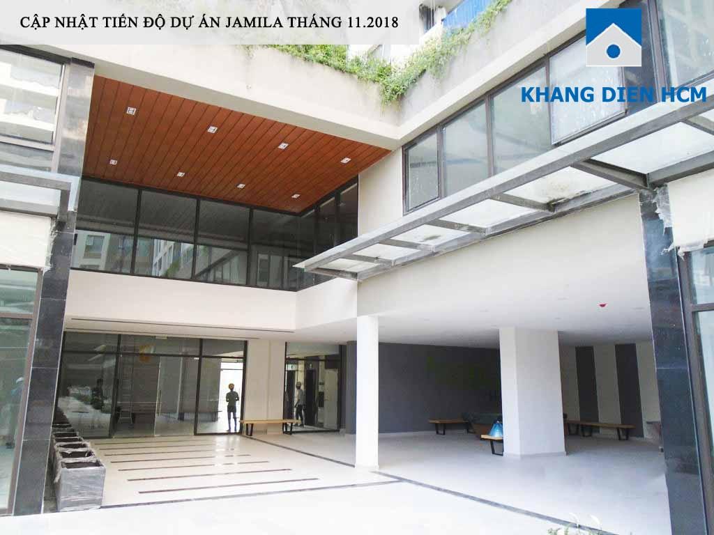 Sảnh Block C của dự án Jamila đã hoàn thiện - Khang Điền HCM