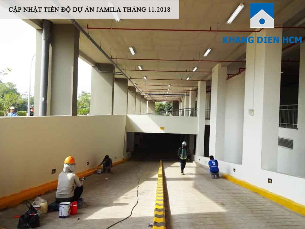 Lối lên xuống tầng hầm dự án Jamila đang hoàn thiên những công đoạn cuối - Khang Điền HCM