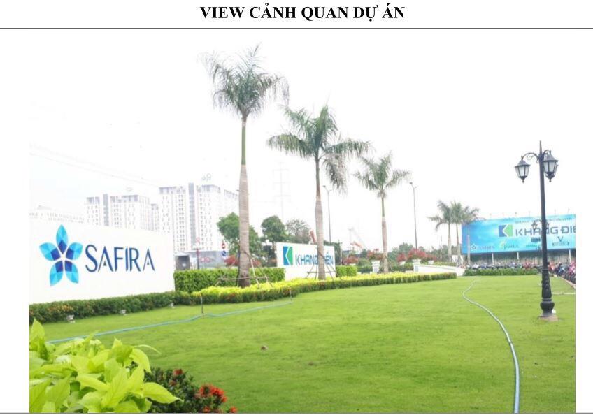 Một view nhìn xanh mát trong dự án Safira Khang Điền - Khang Điền HCM