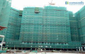 Block C và D đang thi công Bê Tông dầm sàn tầng 21, đây cũng là 2 Block xây dựng đầu tiền và nhanh nhất tại dự án này - Khang Điền HCM