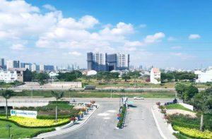 Cây cầu rộng 30m nối đường Võ Chí Công với dự án Safira sẽ là đường chính đi vào dự án sau này - Khang Điền HCM