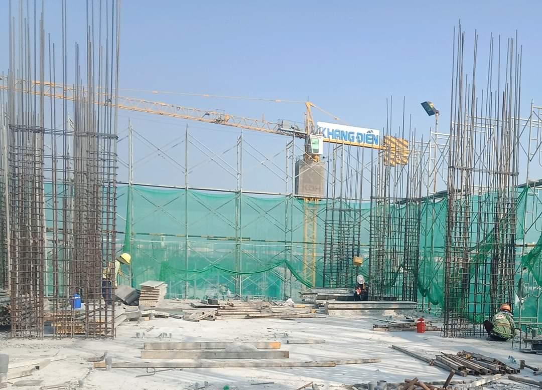 Một góc khác phía bên trên công trường dự án Lovera Vista - Khang Điền HCM