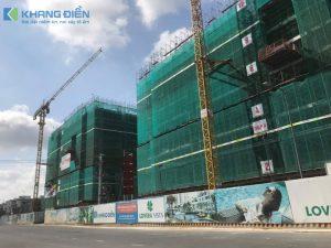 Block A đang tiến hành lắp dựng cốt thép cột vách tầng 10 - 11 - Khang Điền HCM