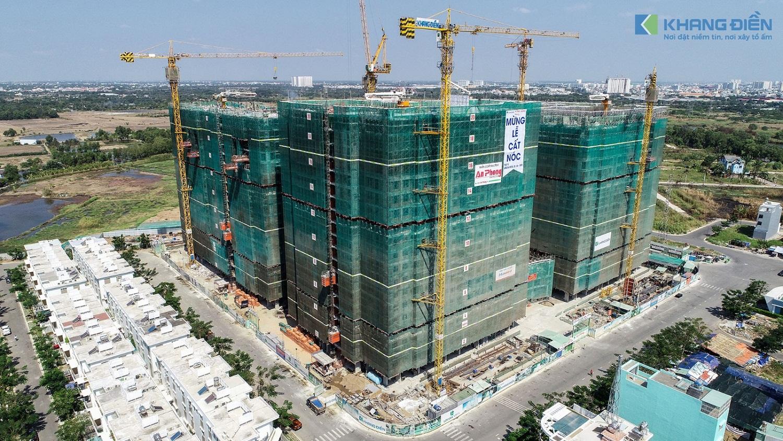 Block A là Block cuối cùng trong tổ hợp 5 Block tại dự án Lovera Vista đã được cất nóc - Khang Điền HCM