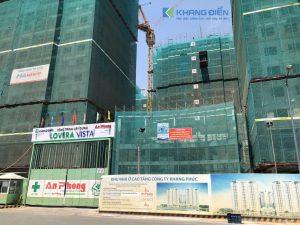 Cổng chính đi vào sảnh căn hộ Lovera Vista mặt tiền đường 19 ( lộ giới 30m) - Khang Điền HCM