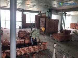 Tất cả các hạng mục được thi công đồng bộ, nhịp nhàng hứa hẹn sẽ thêm một dự án bàn giao nhà sớm của CĐT - Khang Điền HCM