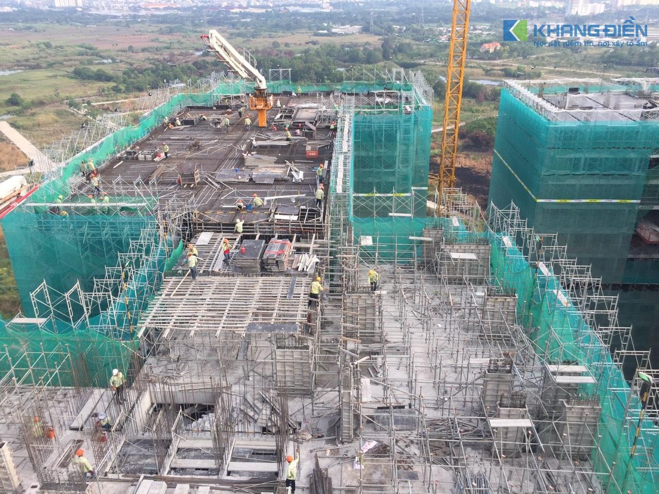 Một góc nhìn khác phía bên trên công trường Lovera Vista - Khang Điền HCM