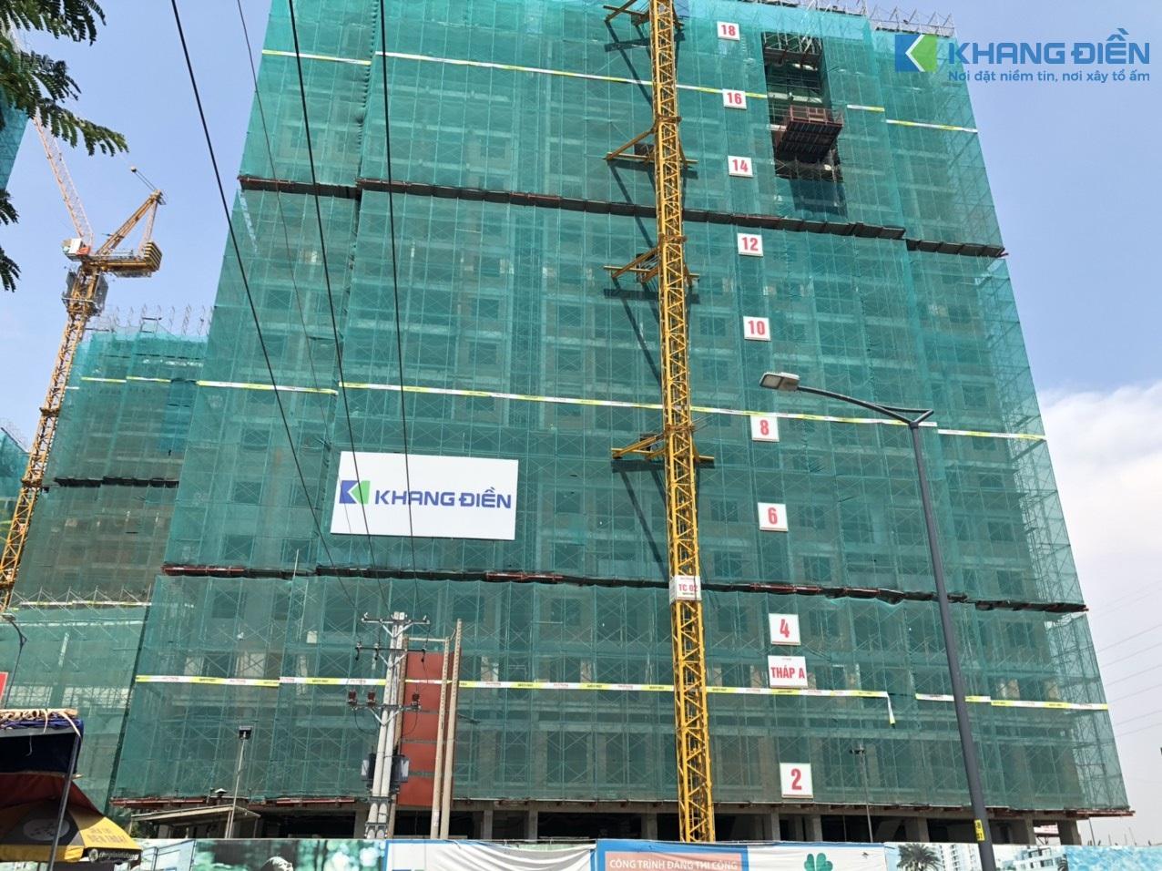 Block A cũng đang khẩn trương hoàn thành những công đoạn cuối để tiến hành cất nóc trong Tháng 05-2020 - Khang Điền HCM