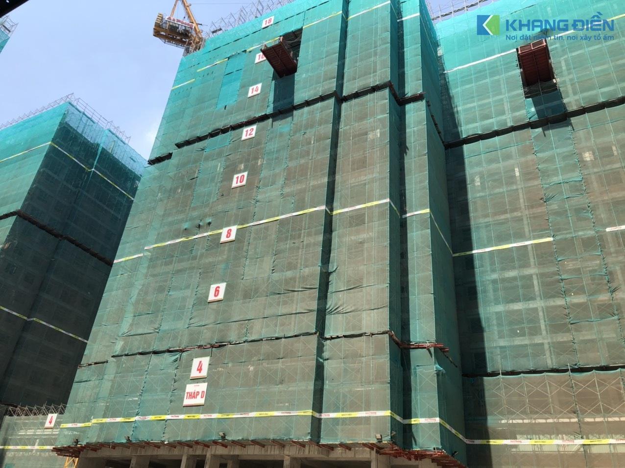 Block D cũng đã xây đến tầng 18 và sẽ cất nóc trong Tháng 05-2020 - Khang Điền HCM