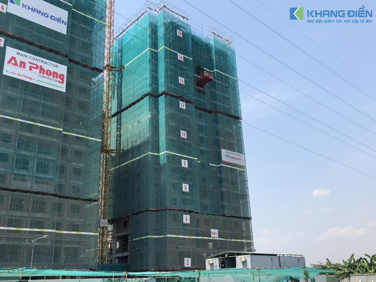 Block A&B nhìn từ hướng đường 19 vào - Khang Điền HCM