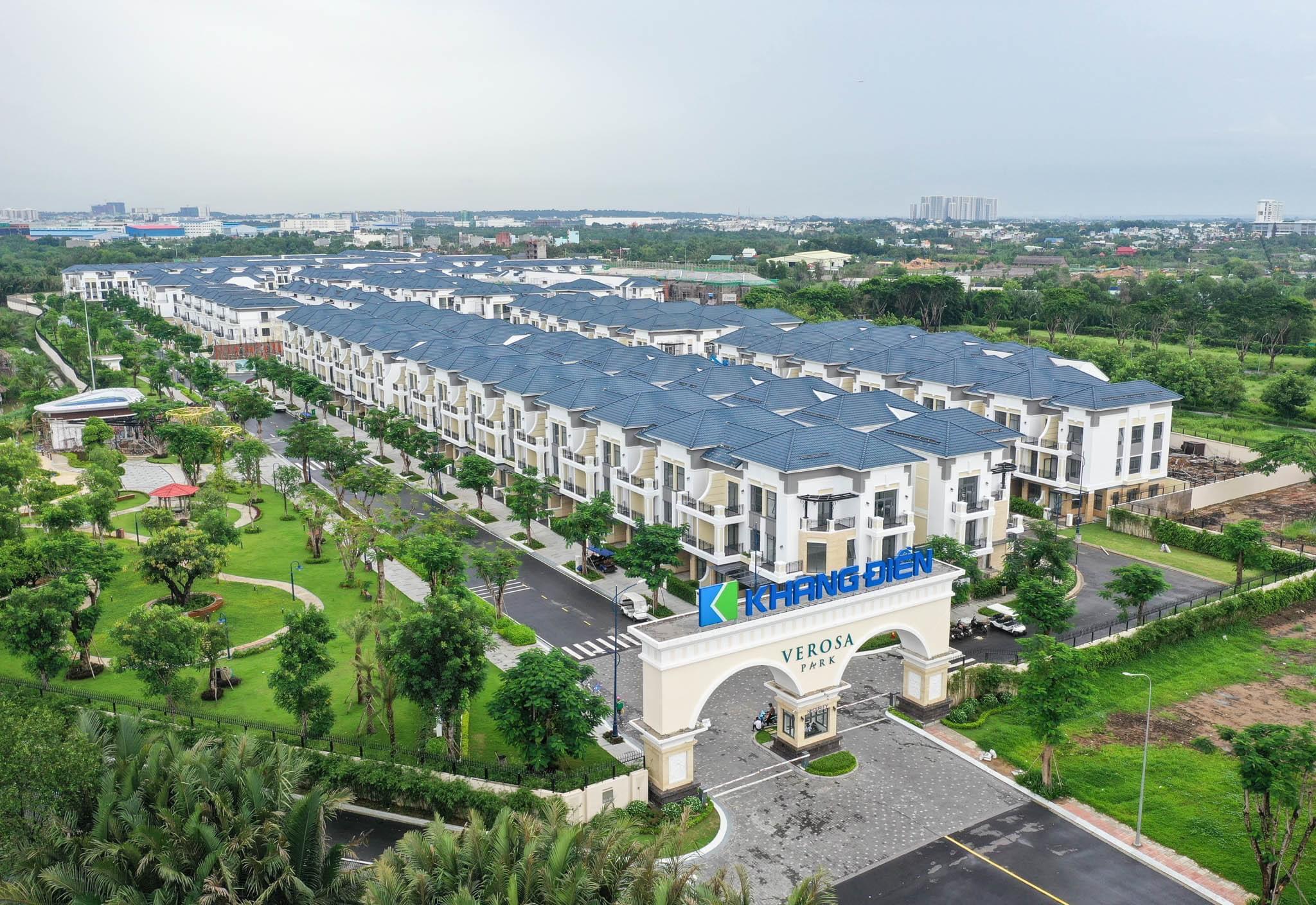 Hình ảnh thực tế tại dự án nhà phố, biệt thự Verosa Park Khang Điền Quận 9 - Khang Điền HCM