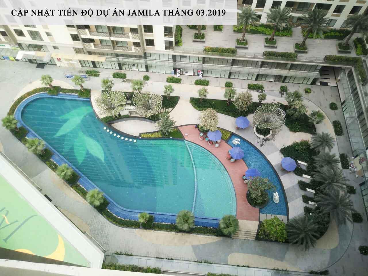 Hồ bơi rộng 850m2 tại dự án căn hộ Jamila Khang Điền Quận 9 - Khang Điền HCM
