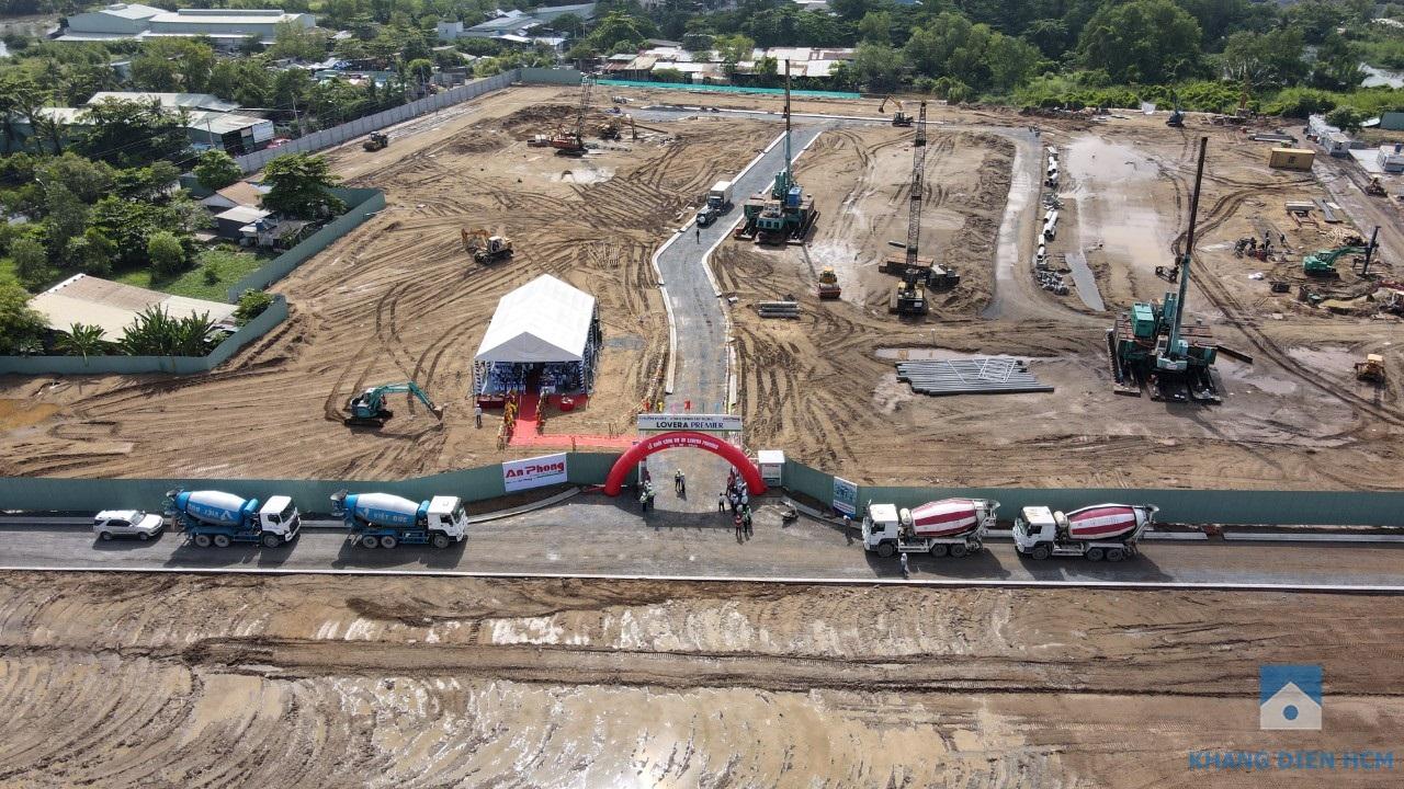 Hình ảnh từ trên cao buổi lễ khởi công dự án Lovera Premier Bình Chánh - Khang Điền HCM