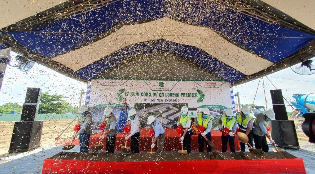 Nghi thức khởi công dự án Lovera Premier Bình Chánh đã chính thức bắt đầu - Khang Điền HCM