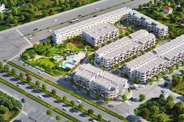 Phối cảnh dự án nhà phố, shophouse Lovera Premier Bình Chánh - Khang Điền HCM