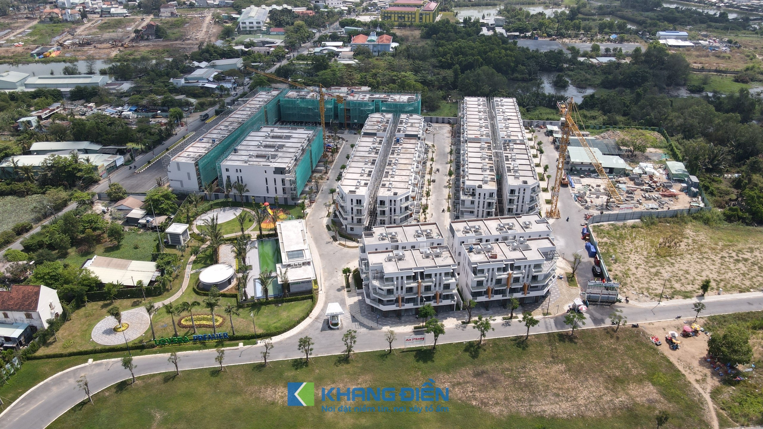 Lovera Premier hướng nhìn từ dự án Lovera Park giai đoạn 3 sang - Khang Điền HCM