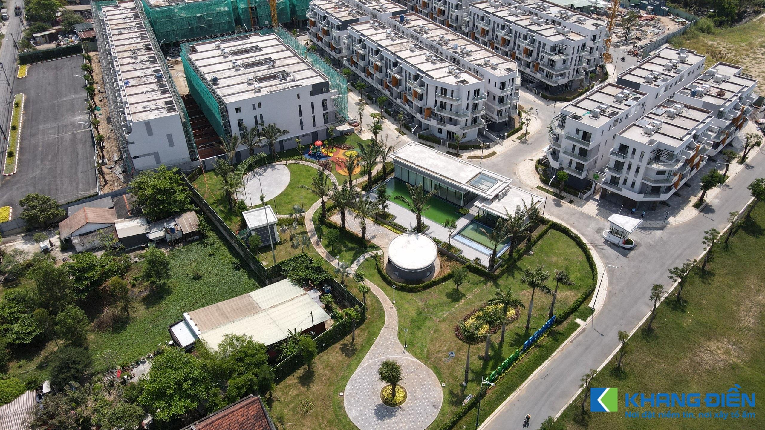 Phần công viên cây xanh và Clubhouse đã hoàn thiện và đang tiến hành vận hành thử - Khang Điền HCM