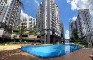 Hồ bơi tại dự án Lovera Vista Bình Chánh đã sẵn sàng - Khang Điền HCM
