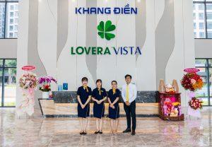 Đội ngũ lễ tân tại dự án Lovera Vista trong ngày đầu bàn giao Lovera Vista - Khang Điền HCM