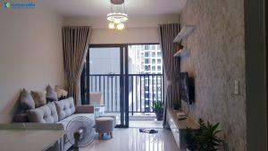 Phòng Khách được thiết kế đơn giản nhưng đầy đủ công năng - Khang Điền HCM