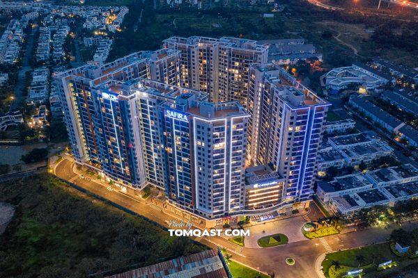 Dự án căn hộ Safira Khang Điền Thành Phố Thủ Đức về đêm - Khang Điền HCM