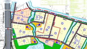 Vị trí dự án nhà phố, biệt thự Armena Quận 9 trên bản đồ tỷ lệ 1/2000 phường Phú Hữu - Khang Điền HCM