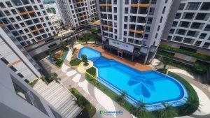 Hồi bơi Lovera Vista rộng 800m2 nhìn từ trên cao - Khang Điền HCM