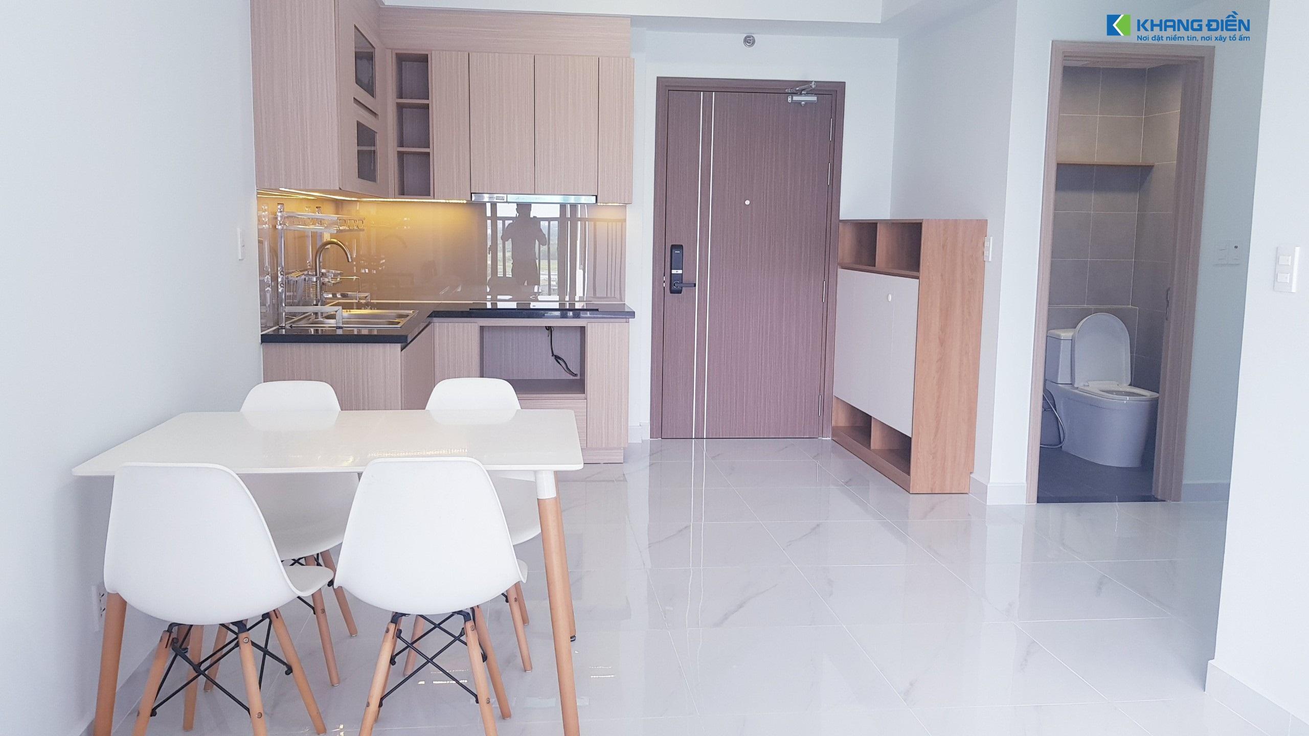 Nội thất bố trí đơn giản tại căn 52m2 thiết kế 1+ 1PN/1WC tại Lovera Vista - Khang Điền HCM