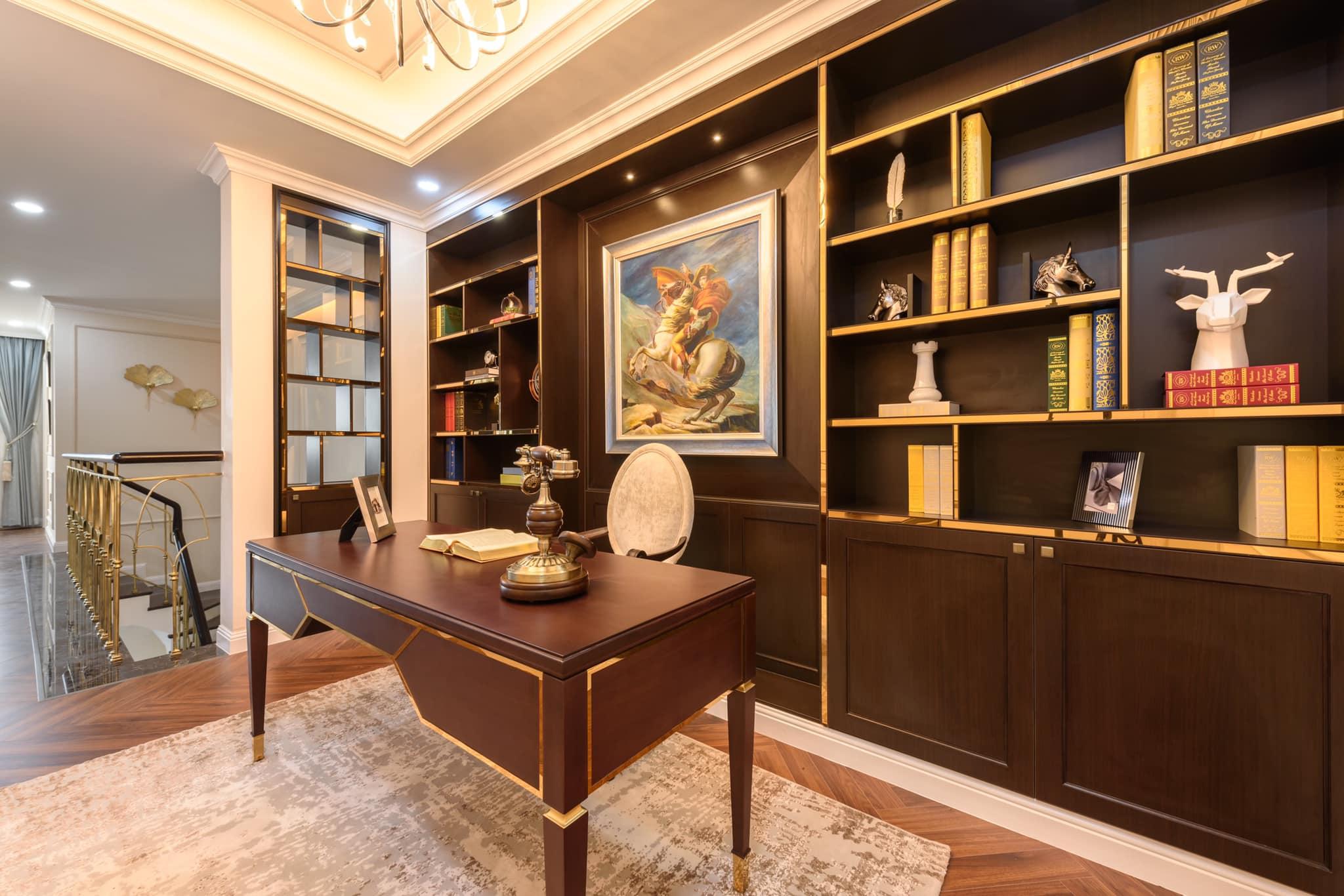 Phòng làm việc làm nổi bậc lên phong thái của Gia chủ căn biệt thự - Khang Điền HCM