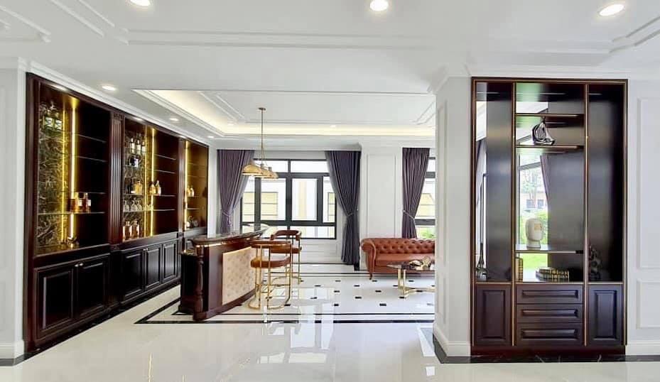 Quầy Bar được thiết kế và hoàn thiện sang trọng, đẳng cấp - Khang Điền HCM