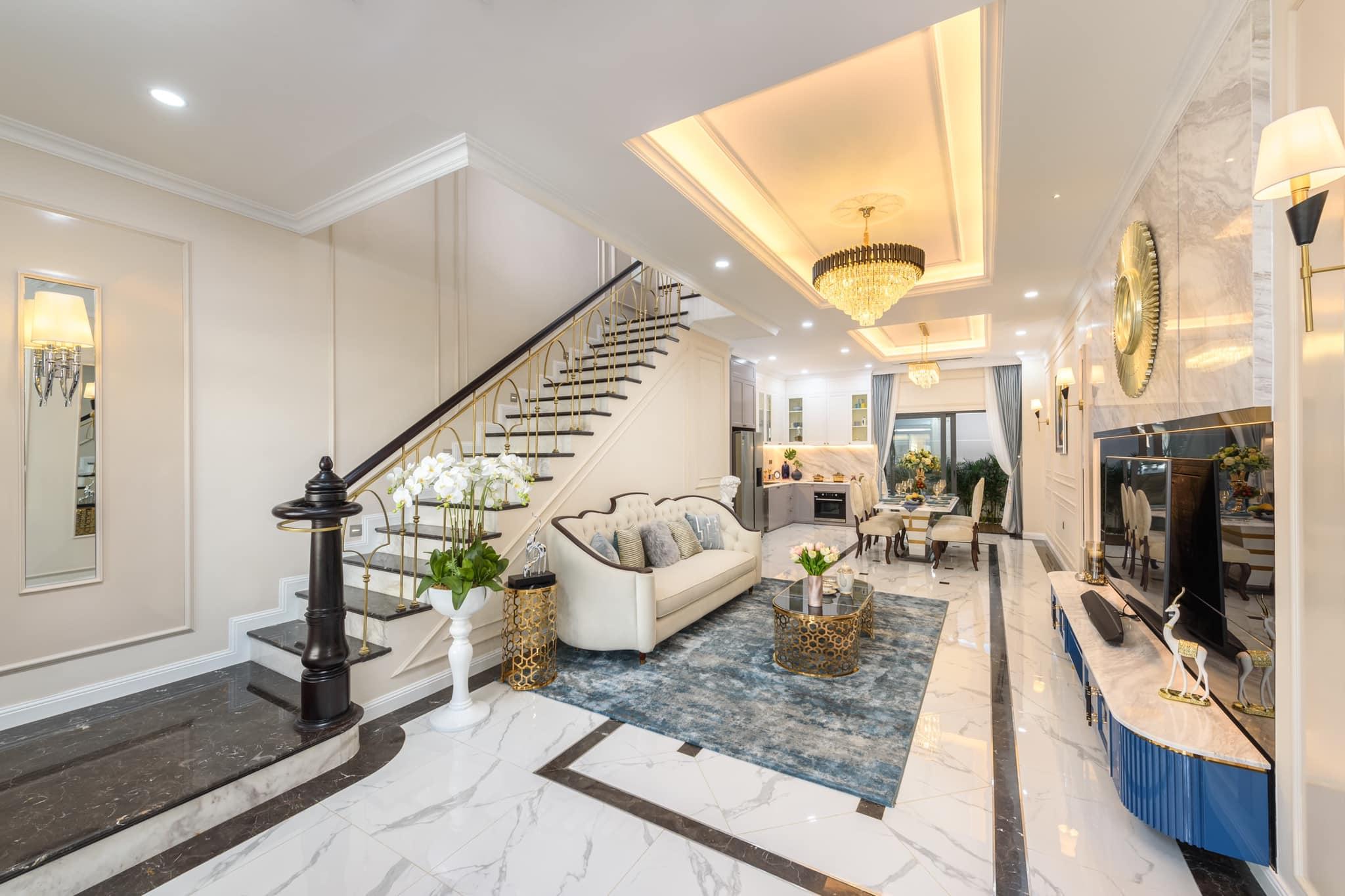 Phòng Khách một căn biệt thự đã hoàn thiện tại Verosa Park Khang Điền Thành Phố Thủ Đức - Khang Điền HCM